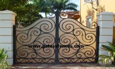 Privacy Entry Gate rear cover available in an array of color and material including Plexiglas,Metal