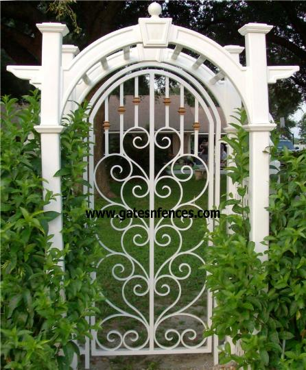 Garden made from one of our original design from a driveway gate on this particular home the driveway gate we added a Initial at the center See Below