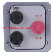 NEMA Exterion Plastic exterior box Open Close with emergency stop red button