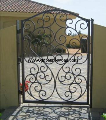 Matching Garden Gate, this custom garden gate design name Tuscany see matching Driveway Gate above