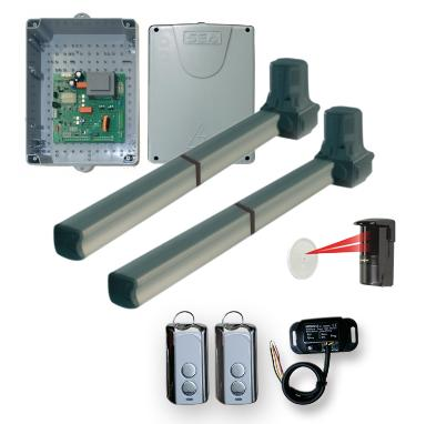 SEA Alpha Dual Set Safety Photo Reflective Eye RGate Receiver 2 Remote Controls and Control Panel Included in this Kit
