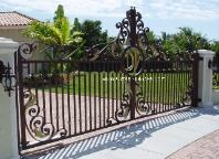 Aluminum Custom Driveway Gates - Decorative  Wrought Iron Custom Gates