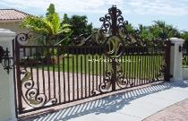 Security Drivewy Gates can be made in Wrought Iron or Aluminum but also Slide or Swing accompanied with Electric Opener