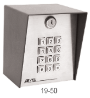 American Access Systems DKLP 19-100 KeyPad,Solar Gate Operator,Programmable Keypad Low Power Comsumption