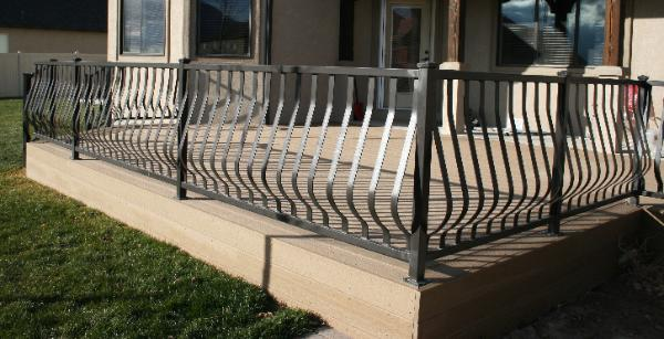 Modern Belly, Belly Railing,Potbelly Railings,Custom Decorative Railing in Aluminum or Wrought Iron