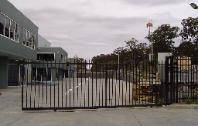 Driveway Entrance Metal Industrial Gates | Security Design Industrial Metal Gate