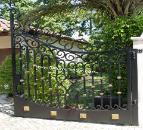 Custom Automatic Driveway Gate in Aluminum or Iron Swing Slide Custom Colors