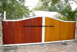 Metal Backing resemble wood for privacy, All Aluminum Metal Frame and backing