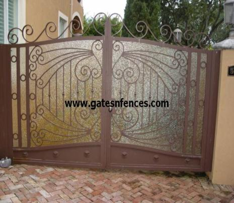 Privacy Double Garden or can be use as a Privacy Driveway Gate backing is Kringlass but available in metal