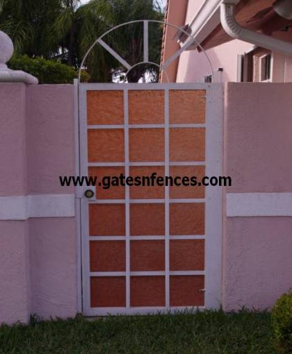 Modetrn Design Garden Gate in Aluminum with or without backing in any color
