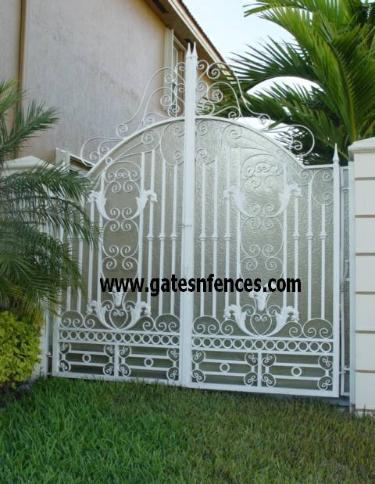 Modern or Traditional single garden gate or double with or without privacy panel in Aluminum or Steel