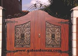 With OR Without Privacy Panel Backing all of our Driveway Gates Design can be match to Garden Gates.