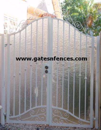 Privacy Garden Gate as a single or double with or without privacy panel