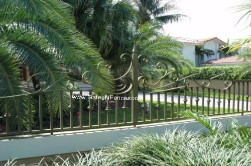 Metal Garden Fences, Iron Garden Fence, Iron Gates Fences, Wrought Iron Garden Fence