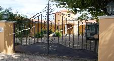 Custom Driveway Gate in Aluminum with Electric Swing Gate Openers From RamSet