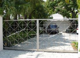 Metal Driveway Gate |  Custom Metal Security Entrance Gate - Aluminum or Wrought Iron