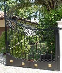 Wrought Iron Gates | Wrought Iron or Aluminum Metal Gate and Fence
