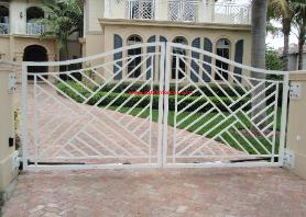 Modern Set design can be made as a single garden gate