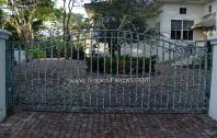 Front Entrance Gates | Custom Design Entrance Gates - Aluminum or Wrought Iron