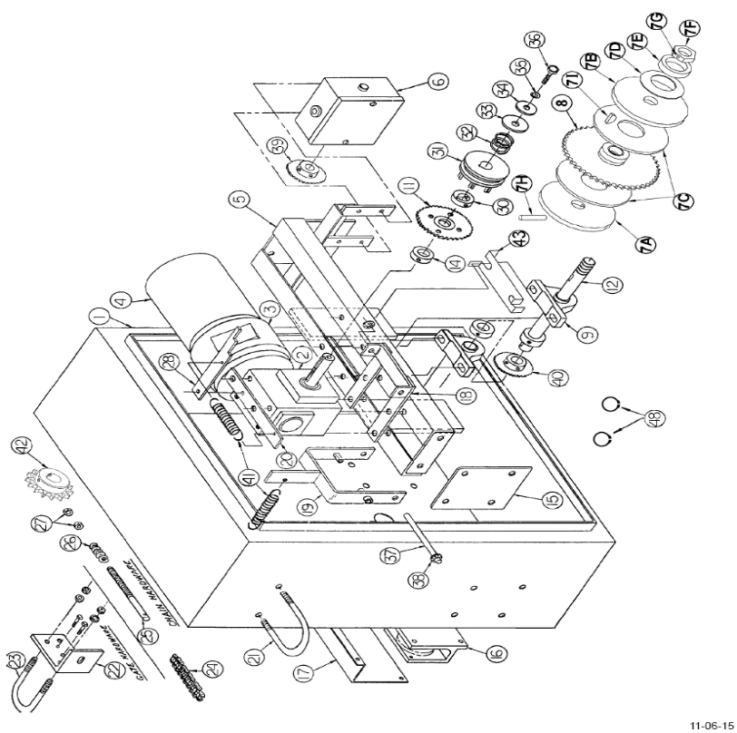 osco vs-gslg sliding gate openers repair parts