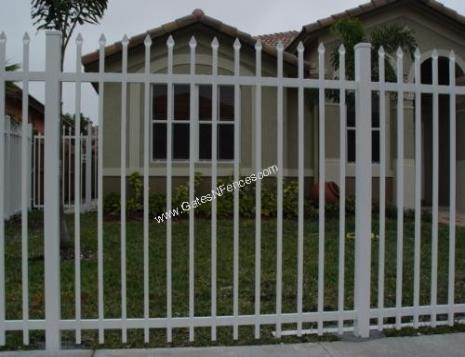 Picket fences aluminum picket fences steel iron picket fences designs - Aluminum vs steel fencing ...