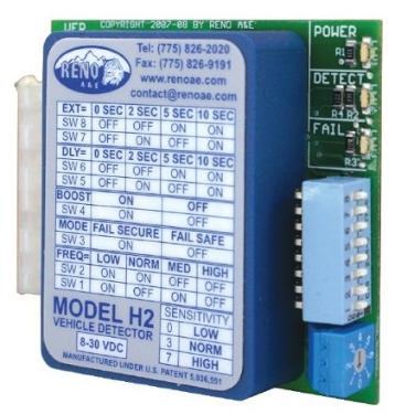 Reno H2 12F Single Channel Loop Detector Input Dual Relay Outputs PC Board Style Loop Detector