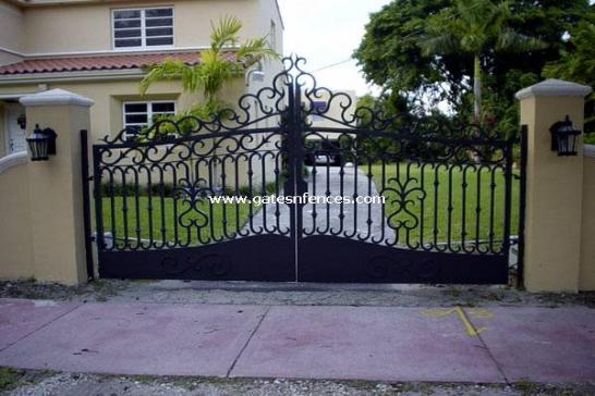 Matching Driveway Gate, Garden gate above another driveway gate with the same design below.