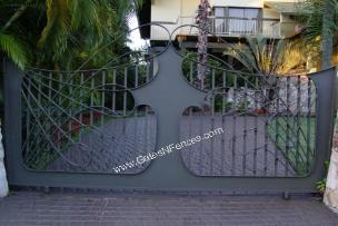 Wrought Iron Custom Design Driveway Entrance Ideas | Aluminum Driveway Entrance Ideas