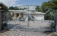 Front Entrance Gates | Front Security Gate Design |  Aluminum Front Entry Gate