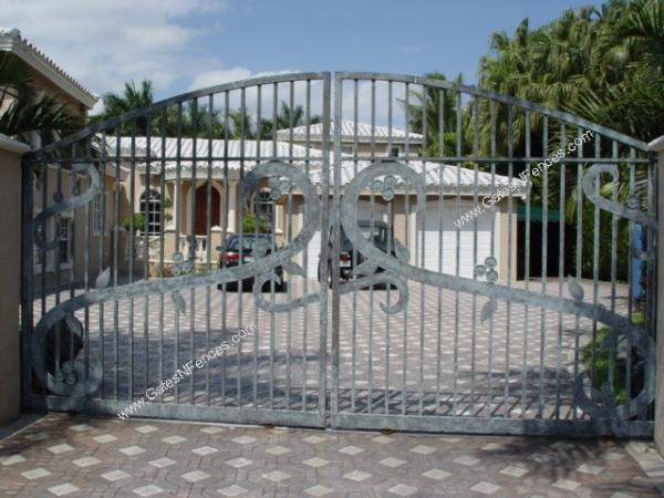 Front Entrance Driveway Gate, Front Gate, Entrance Gate, Custom Gate, Arch Gate