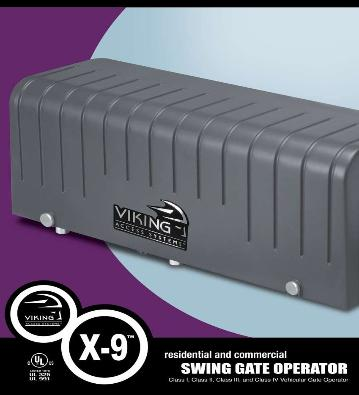 Viking X9 Swing Gate Operator Viking Residential Swing