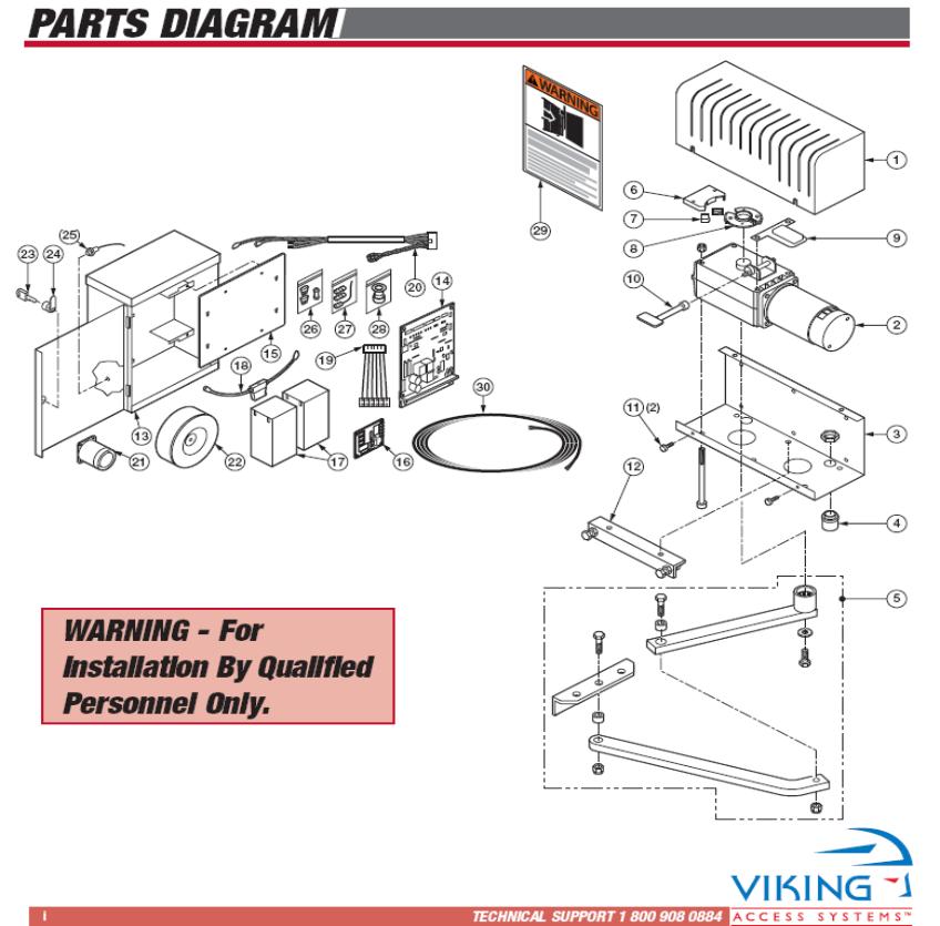 Viking Swing Gate Opener Replacement Parts Viking X9 Gate